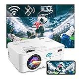 """Mini Beamer WLAN Bluetooth - Artlii Enjoy2 6000 Lumen Wireless LED Beamer 300"""" Unterstützt 1080p Full HD Mini Projektor, Kompatibel mit PS4, X-Box, TV Stick Laptop iOS/Android Smartphone Projektor"""