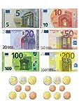 Tortenaufleger Euro Geldscheine und Münzen / 20 cm Ø