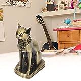 SALUTUYA Katzenstatue, Exquisit Durable Cat Model Vintage ägyptische Katzenfigur, ägyptische Katzenskulptur Eisen zum Geburtstag Geshenk Souvenirs für die Inneneinrichtung