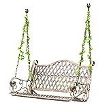 Outdoor Gartenbank Veranda Metallschaukel, schwere Schaukel Hängematte Schaukel mit hängenden Kette, Retro 2-Sitzer hängende Terrasse Bank Lounge Chair, kann 800 Pfund trag