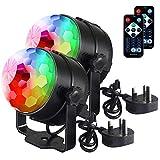 Discokugel Disco-Lichter Party-Lichter mit Geräuschaktivierung und Fernbedienung, DJ-Beleuchtung, 3 W RGB-Lichtball, Tanz-Lichtshow für Zuhause (weiß)