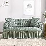 DJNCIA Stilvoller und schöner elastischer Sofabezug für Wohnzimmer, roter Sofabezug für 1/2/3/4-Sitzer (Farbe: Apfelgrün, Spezifikation: 4-Sitzer 235 300 cm)