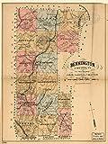 1880 Karte mit Titel: Bennington County, Vt. to accompany Child's Gazetteer and Folder (englischsprachig), Thema: Benning