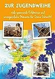 Karte zur Jugendweihe Basic Classic - Weltkarte - 11,6 x 16,6 cm