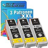 Tito-Express ProSerie 3er Set Druckerpatronen passend zu Epson T2621XL 26 XL mit 25ml Black XXL-Inhalt XP-510 XP-520 XP-600 XP-605 XP-610 XP-615 XP-620 XP-625 XP-700 XP-710