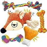 EONAZE Welpenspielzeug Hundespielzeug Quietschend - Hundespielzeug Unzerstörbar für Welpen und Kleine - Zahnreinigung Hundezubehör Hunde Spielsachen Spielzeug Set Geschenk- Natürliche Baumwolle