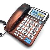 Sywlwxkq Telefon Große Taste Home Schnurgebundenes Telefon.Großbildschirm, Kristalltaste, Anrufernummer.Geeignet für einfache und Moderne Veranstaltungsorte.220 * 175 (mm)