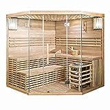 Home Deluxe - Traditionelle Sauna - Skyline XL Big - Holz: Hemlocktanne - Maße: 200 x 200 x 210 cm - inkl. komplettem Zubehör   Dampfsauna Aufgusssauna Finnische Sauna