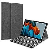 Fintie Tastatur Hülle für Samsung Galaxy Tab S7 11 Zoll 2020 SM-T870 / SM-T875 Tablet-PC, Ultradünn leicht Schutzhülle mit magnetisch Abnehmbarer drahtloser Deutscher Bluetooth Tastatur, Dunkelg