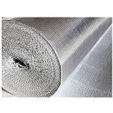 QCKJ Verdicken Doppel Aluminium Blasen Isolierung 2m * 15m * 4mm isolierfolie thermisches Dächer Wände und Böden Wohnmobil und Wohnwagen DIY Haushaltsdämmung Selbstklebend(Size:2m*15m)
