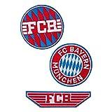 FC Bayern München Aufnäher - 3er Set - Patch, Aufbügler FCB