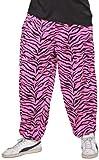 Widmann 9569Z - 80-er Jahre Hose mit Zebra Muster, pink, Größe XL
