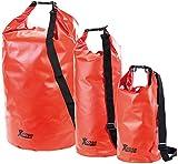 Xcase Trockentasche: Urlauber-Set wasserdichte Packsäcke 16/25/70 Liter, rot (Seesack mit Kissen-Funktion)