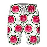 Herren Badehose Eltern-Kind-Outfit Sommer Badeshorts 3D Druck Interessanter Frucht Schnelltrocknend Hawaii Surf Schwimmhose Sporthose,C,Adult XL