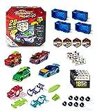 Majorette – Tune Ups Series 1, 4er Set mit 28 Überraschungen, Spielzeugautos aus Metall zum Tunen, 4 von 18 Autos im Überraschungspack, inkl. Tuning-Zubehör, Lieferung: 4 Stück, zufällige Auswahl