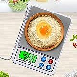 YEYOUCAI . MH-555 6 kg x 0,1 g Digitale elektronische tragbare Küchenwaage mit hoher Genauigkeit und 2,2-Zoll-LCD-Bildschirm
