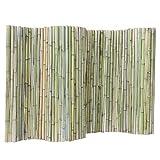 WXQIANG Gartenzaun Bildschirm Bambuszaun Pflanze Klettergerüst Pflanze Leitschiene Außendekoration Wasserdicht, 3 Größen (Color : Green, Size : 120X200CM)