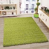 VIMODA Prime Shaggy Teppich Grün Hochflor Langflor Modern, Maße:70x140