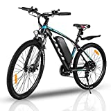 VIVI Elektrofahrrad Herren 27.5' Mountainbike mit Abnehmbare 36V/10.4Ah Batterie /21-Gang-Getriebe/Höchstgeschwindigkeit 32km/h/Kilometerstand Aufladen Bis zu 50km (Blau)