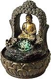Zimmerbrunnen Buddha mit Bogen und Kugel