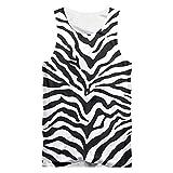 3D Tank Tops Männliche Mode Turnhallen Leoparden Weste Druck Zebrastreifen Hip Hop Kleidung Mann Sommer Ärmelloses Shirt Zebra Stripes S