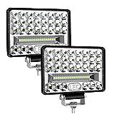 LED Arbeitsscheinwerfer, 2 X 172W Zusatzscheinwerfer 12V Arbeitsscheinwerfer LED 12V~24V - Zusatzscheinwerfer Fernlicht LED 6' LED Scheinwerfer 12V 2 Jahre Garantie