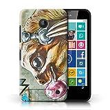 Handy Hülle kompatibel mit Nokia Lumia 630 Wildes Tier Faultier Graffiti-Kunst Transparent Klar Ultra Dünne Handyhülle Case Cover