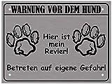 LUGUNO Warnung Vor Dem Hund Schild I Alu Hundeschild Warnschild Warnung Achtung Mein R