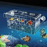 Breeding Box Transparent Zucht Tanks Doppelschicht Brutkasten Aufzuchtbecken Acryl Fische Aufzuchtbehälter Ablaichkasten Aufzuchttank Isolationskiste 20,5 X 9 X 10,5 Cm Für Babyfische Garnelen
