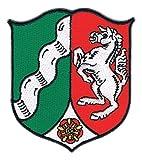 Aufnäher Bügelbild Iron on Patches Applikation Landeswappen Nordrhein - W