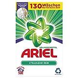 Ariel Waschmittel Pulver Waschpulver, Vollwaschmittel, Strahlend Rein, 130 Waschladungen (8kg)