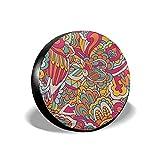Reifenabdeckung Reifenabdeckungen Oberflächendesign Muster Nahtlose Abstrakte Dekorative Doodle Textur Radabdeckungen 14/15/16/17 Inch