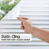 LMKJ Elektrostatische Selbstklebende mattierte Fensterfolie, Abnehmbarer dekorativer Glasfensteraufkleber, kein Kleber Anti-UV-Fensterfolie A97 60x200cm