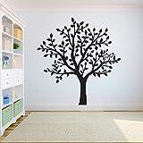 Vögel auf dem Baum Hauptdekoration Baum Wandtattoo Aufkleber Schlafzimmer Baum des Lebens Wurzel Hauptdekoration Tapete Wandaufkleber A3 42X44CM