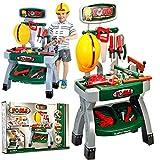 MalPlay Spielwerkzeug   Werkbank Kinder   Spielset mit Schraubenschlüssel, Schutzhelm und Hammer   Rollenspiele Pädagogisches Lernen Geschenk für Kleinkinder ab 3 Jahre