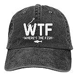 Unisex Beliebte Denim Cap WTF Wo ist der Fisch Erwachsene Trucker Hat Vintage Verstellbare Baseballmützen