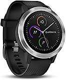 Garmin vívoactive 3 GPS-Fitness-Smartwatch - vorinstallierte Sport-Apps, kontaktloses Bezahlen mit Garmin Pay, Schwarz-Silber (Generalüberholt)
