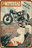 HONGXIN Motorrad Die Neue Zündapp Db 20Motorcycles Retro Poster Vintage Metallschild bemalt Eisenplatte Kunst Wanddekoration Spielzimmer Bar Pub 8 × 12 Zoll