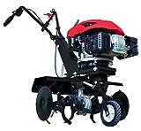 Scheppach Benzin Motorhacke MTP560 (3,5 PS, Arbeitsbreite max.: 372/612/760mm, Hackmesser- Ø: 560mm, 6 Messer, stabile Stahlkonstruktion, komforthandgriff, Transporträder)