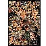 HAOOMOSP Leinwanddruck 60x80cm kein Rahmen Poster Amerikanische Klassische Science-Fiction-TV-Serie Zurück in die Zukunft Wandkunst Dekoration Malerei Poster