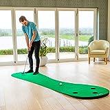 FORB Golf Puttingmatte für zu Hause - Golf Übungsmatte - Golf Puttingmatte (3m)