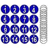 AFASOES 50 Stück Zahlenmarken Nummeriert Kennzeichnungsmarken 1-50 Schlüsselmarken Kunststoff Schlüsselanhänger Zahlen mit 50 Schlüsselringe Schlüsselmarke Zahlen Anhänger für Hotels Fitnessstudio