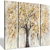 Leinwand abstrakte Bäume Wandkunst - Blütenbaum Malerei auf Leinwand Dekor für Wohnzimmer