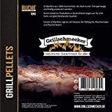 Grillschmecker Grillpellets - Holzpellets aus 100% Reiner Buche für Grill, Pelletofen & Smoker - 10kg Sack