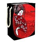 Spielzeug Aufbewahrungskörbe Japanische Frau Schmutzige Kleidung Wäschekorb Wasserdicht Faltbar 49x30x40.5 cm