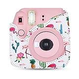 DAUERHAFT Kameratasche mit Schultergurt für Fuji Fujifilm Instax Mini 8/8 +/9, Langlebig und Leicht zu Reinigen, Abnehmbare Kamera-Cag-Kappe, Schönes Aussehen(Kaktus)
