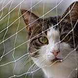 Katzenschutznetz 6 x 3 m für den Außenbereich, Balkon, Treppe, Fenster, Tür, Haustier-Sicherheitsanweisung, unsichtbar, verschiedene Größ