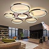 LED Deckenleuchte Wohnzimmerlampe Dimmbar Deckenlampe Mit Fernbedienung 106W Modern Decke Schlafzimmerlampe Acryl Lampenschirm Aluminium Design Lampe Esszimmerlampe Bürolampe Küchelampe,Braun