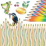 Regenbogen Buntstift, 28 Stück Buntstift Set, Regenbogenstifte Zeichnung Bleistift, 4 in 1 Regenbogenfarben Buntstift Zauberstift Farbstift für Set zum Zeichnen, Malen und Skizzieren, Schulmaterial