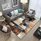 SunYe Moderne Minimalistische Geometrische Muster Wohnzimmer Teppich Doppelt Gepolsterte Schlafzimmer Bettmatten rutschfeste Dauerhafte Fußmatten, Haustier Teppiche, Können In Bü